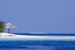 laguna tropikalnej wyspy Zdjęcia Royalty Free
