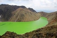 Laguna Verde λίμνη σε Narino, Κολομβία Στοκ Φωτογραφίες