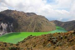 Laguna Verde λίμνη σε Narino, Κολομβία Στοκ εικόνα με δικαίωμα ελεύθερης χρήσης