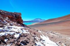 Laguna Verde στη Χιλή Στοκ φωτογραφία με δικαίωμα ελεύθερης χρήσης