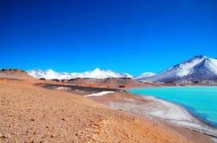 Laguna Verde στη Χιλή Στοκ Εικόνες