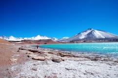 Laguna Verde в Чили Стоковые Изображения RF