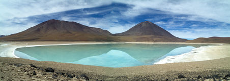 Laguna Verde. With the volcan Licancabur in South Bolivia stock image