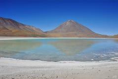 laguna verde Royaltyfri Fotografi