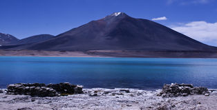 Laguna Verde. Picture taken at the Ojos del Salado area Chile, dry Andes at an alitude of 4000 m from the lake called Laguna Verde close to the Argentinian royalty free stock images