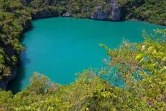 Laguna verde Imágenes de archivo libres de regalías