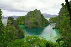 Laguna verde Immagini Stock Libere da Diritti