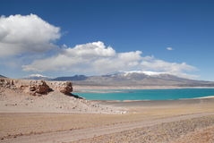 Laguna verde, Atacama, chile Royalty Free Stock Images