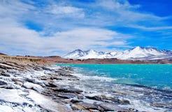 Laguna Verde au Chili Photo libre de droits