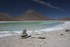 Laguna Verde, Bolivië Stock Fotografie