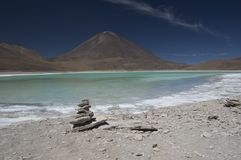 Laguna Verde, Bolivia. One of the spectacular lakes of the Bolivian altiplano Stock Photography