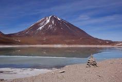 Laguna Verde, Bolivia Imagen de archivo libre de regalías