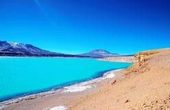 Laguna Verde in Chili Royalty-vrije Stock Afbeelding