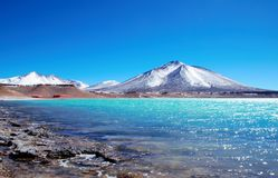 Laguna Verde in Chili Royalty-vrije Stock Afbeeldingen