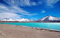 Laguna Verde in Chili stock foto's