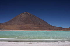 Laguna Verde et Licancabur Photo stock