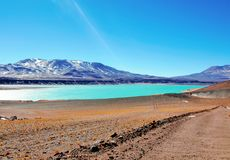 Laguna Verde i Chile Arkivfoton
