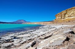 Laguna Verde i Chile Royaltyfri Foto