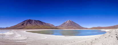 Laguna Verde i Licancabur wulkan, Boliwia Obraz Royalty Free