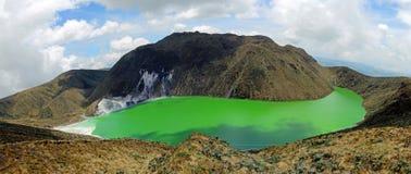 Laguna Verde i Narino, Colombia Arkivbilder