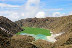 Laguna Verde jezioro w Narino, Kolumbia Obrazy Royalty Free