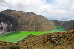 Laguna Verde jezioro w Narino, Kolumbia Obraz Royalty Free