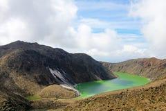Laguna Verde jezioro w Narino, Kolumbia Obraz Stock