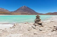 Laguna Verde krajobraz w Boliwia obrazy royalty free