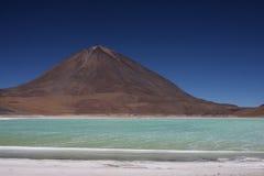 Laguna Verde and Licancabur Stock Photo