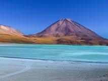 Laguna Verde and Licancabur volcano Royalty Free Stock Images