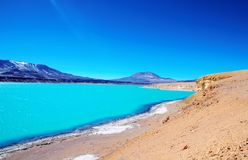 Laguna Verde nel Cile Immagine Stock Libera da Diritti