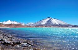 Laguna Verde nel Cile Immagini Stock Libere da Diritti