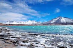Laguna Verde nel Cile Fotografia Stock