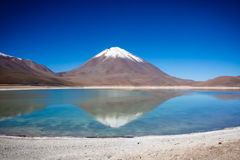 Laguna Verde. Is a salt lake at the foot of the volcanos Licancabur and Juriques - Eduardo Avaroa Andean Fauna National Reserve, Bolivia Royalty Free Stock Photos