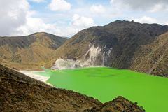 Laguna Verde sjö i Narino, Colombia Royaltyfria Foton