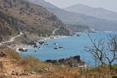 Laguna vicino a Preveli, Creta Immagine Stock