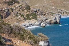 Laguna vicino a Preveli, Creta Fotografia Stock