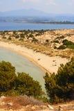 Laguna Voidokilia, Grecia Immagini Stock Libere da Diritti