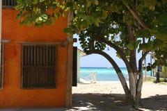 Laguna y cortinas Fotografía de archivo libre de regalías