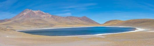 Lagunas Altiplanicas, vue panoramique, Miscanti y Miniques Image stock