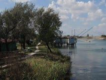 Lagunas de Comacchio Imagen de archivo libre de regalías