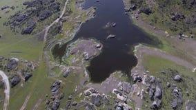 Lagunas-grandes desde dron stock footage