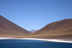 Lagunas Miscanti e Meniques Fotografia Stock