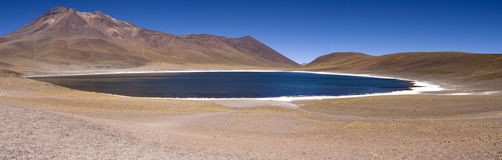 Lagunas Miscanti and Meniques. In Atacama desert near Andes Royalty Free Stock Photos