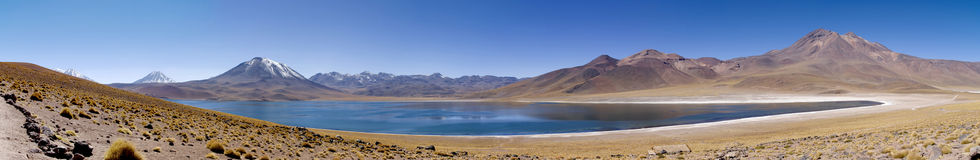 Lagunas Miscanti and Meniques. In Atacama desert near Andes Royalty Free Stock Images