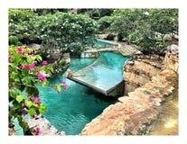 Lagunas y jardines de la hada Fotos de archivo libres de regalías