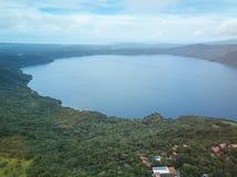 Lagune apoyo in Nicaragua Stockfotos