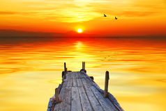 Lagune arancio Immagine Stock