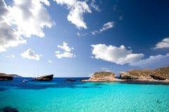 Lagune bleue Photographie stock libre de droits