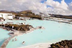 Lagune bleue - centre islandais célèbre de station thermale, Islande photo libre de droits